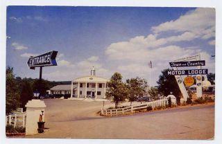 Charlottesville VA Town Motel Black Lawn Jockey Postcrd