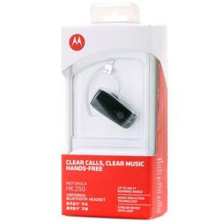 Universal Bluetooth Cell Phone Headset A2DP 300 ft Range Black