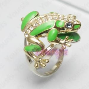 Sexy Jewelry 18K Gold Plated Swarovski Crystal Cute Frog Charm