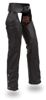 womens black leather motorcycle chaps size s