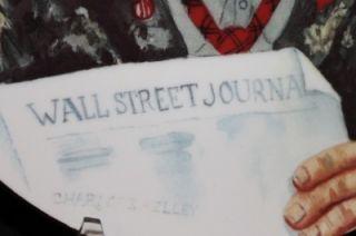 Flambro Plate Big Business Signed 1985 Charlotte Wall Street