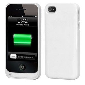 4S White 1500 mAh Energy Battery Charge Case Phone Cover
