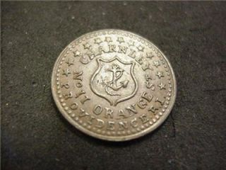 1863 CWT Civil War Store Token Charnley No 11 Orange St Providence RI