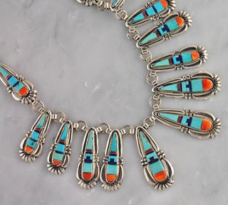 Johnson Navajo Silver Multi Color Necklace Earring