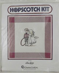 Charles Craft Cross Stitch Kit Hopscotch Kiss Alma Lynne Counted
