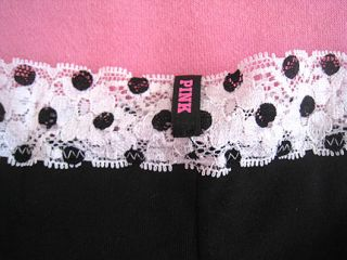 Pink Cheekster Black White Lace Cheeky Panty Bikini Underwear M
