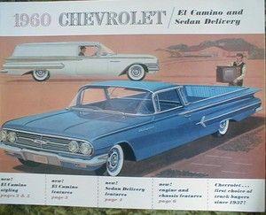 1960 Chevrolet El Camino Sedan Delivery Brochure