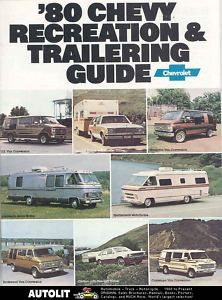 1980 Chevrolet motorhome RV Travel Trailer Brochure