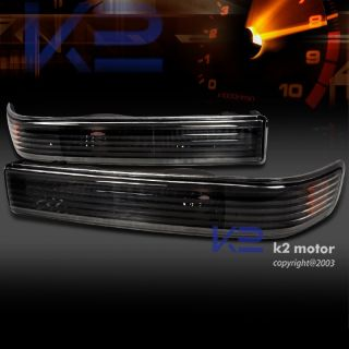 98 04 Chevy S10 Blazer Sonoma Parking Bumper Lights Black