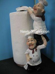 Italian Fat Chef Paper Towel Holder Kitchen Bistro New
