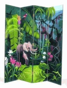 wayborn elephant in jungle screen room divider_83b8c2