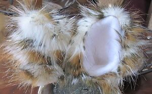 Ears Luxury Long Pile Shag Faux Cheetah Print Fur with Metal Snap Hair