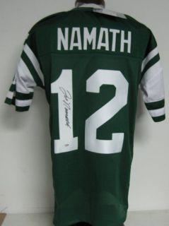 Joe Namath Jets Autographed Signed Jersey Size PSA DNA