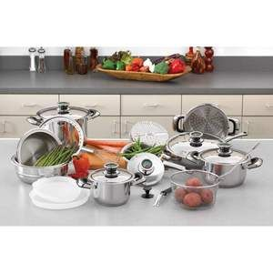 Chef's Secret 22pc 12 Element Super Set with High Quality Stainless