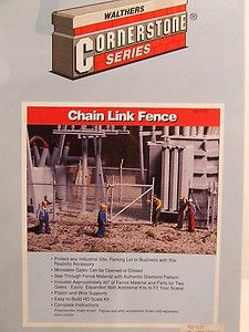 Walthers Cornerstone Chain Link Chainlink Fence kit 933 3125 in box