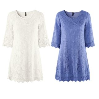 New Chic Crew Neck 3 4 Sleeve Lace Dress Size M s XS 3000