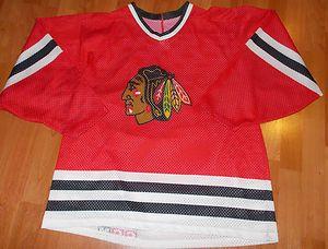 Vintage Chicago Blackhawks NHL Hockey Jersey Sz XL CCM