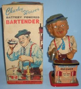 ROSKO1962 Charley Weaver Bartender Battery Powered Mechanical Original
