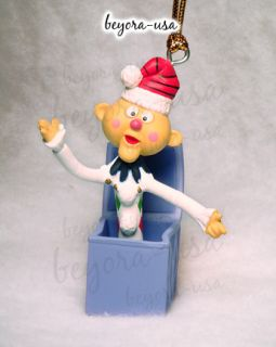 Charlie in the Box ornament from the Rankin/Bass movie Rudolph the