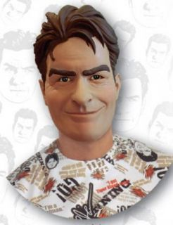Charlie Sheen Vinyl Adult Halloween Mask Costume Party Winning 2 1 2