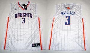 Charlotte Bobcats Gerald Wallace White Home Jersey XL