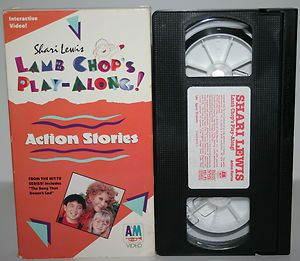 Shari Lewis Lamb Chops Play Along Action Stories VHS Video Kids Movie