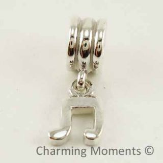 New Authentic Pandora Silver Charm Music Note 790183 Bead