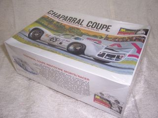 24 1966 CHAPARRAL COUPE RE ISSUE MONOGRAM WHITE MODEL KIT SEALED