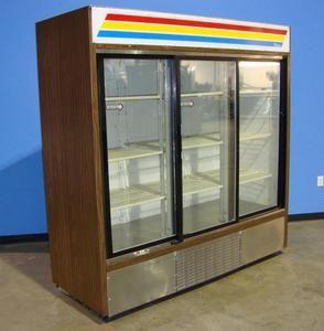 True GDM 69 3 Glass Sliding Door Merchandiser Refrigerator Cooler