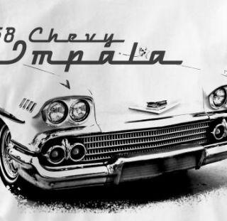 Chevy Impala 1958 Classic Chevrolet Car Auto T Shirt XL