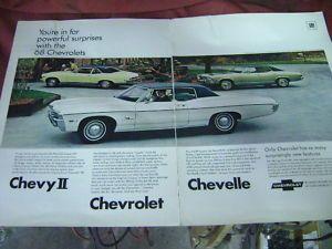 1968 Chevrolet Nova SS Chevelle Impala Ad Poster