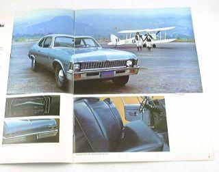 1972 72 Chevrolet Chevy Nova Brochure Coupe Sedan SS