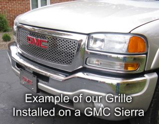 Chevy Tahoe 00 06 Chrome Circle Grille Insert Stainless Steel Trim