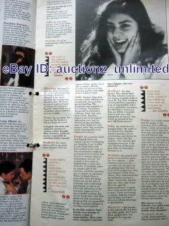 OCTOBER1990 Madhuri Dixit Juhi Chawla Pooja Bhatt Hema Malini Sonam