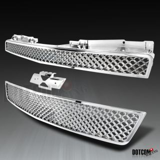 2007 2010 Chevy Suburban Tahoe Front Mesh Hood Grill Chrome Grille