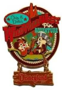 West Adventure Chip Dale in Canoe Dangle Le 2005 Disney Pin