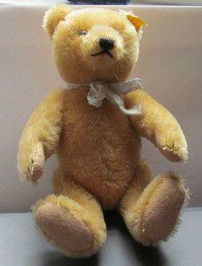 Antique Steiff Teddy Bear #5322 1950s Golden Mohair VERY NICE