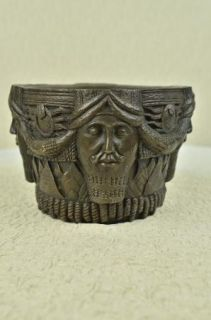 Vintage Signed Egyptian Vase Bronze Figurine Art Deco Sculpture