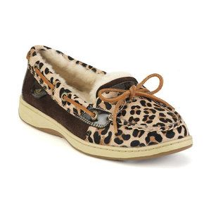 Sperry Top Sider Angelfish Leopard Print Boat Shoe 6 5M New Womens