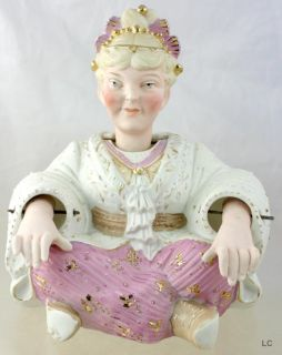 1900 QUALITY GERMAN BISQUE PORCELAIN WOMAN NODDER