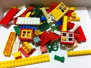 Bulk Lego Lot 100 Pieces Fun Mix w Window Door Bricks Blocks Plates