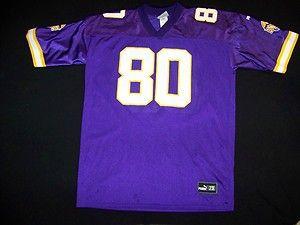 Minnesota Vikings 80 Chris Carter Puma NFL Football Jersey Size 2XL