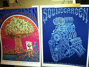 Poster Bundle Lollaplooza Chris Cornell not Pearl Jam Vedder LP