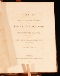 The Early Part Reign James The Second Charles James Fox First