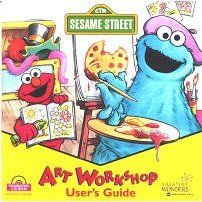 Sesame Street Art Workshop PC CD kids paint pictures, learn numbers
