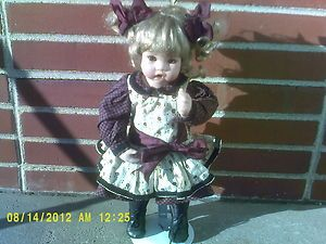Chrissie porcelain doll collectors edition signed by Cindy Marschner