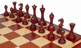 in Red Sandalwood with Premier African Padauk Board 4 4 King
