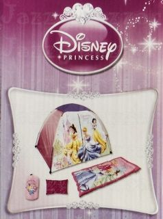 Disney Kids Childrens Girls Play House Dome Tent Sleeping Bag Indoor