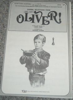 Oliver SATB Piano sheet music and words 1960 all songs Consider