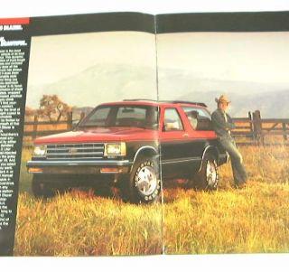 1985 85 Chevrolet Chevy s 10 S10 Blazer Brochure Sport 4x4